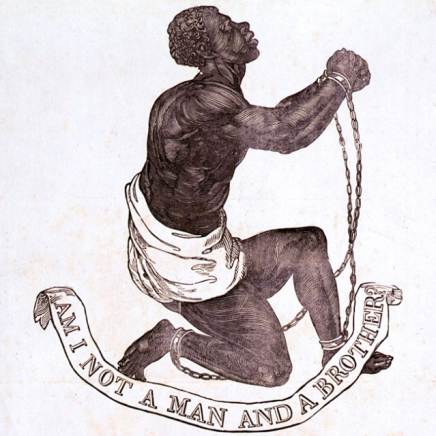 """Am I not a man and a brother?""  Abolitionist Wedgewood medallion, 1787"